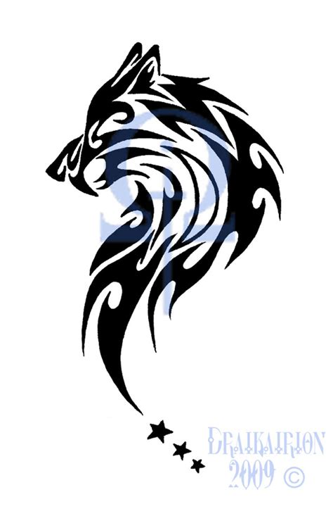 tribal wolf and heart clipart best