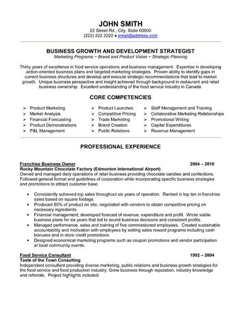 Franchise Development Manager Sle Resume by Click Here To This Franchise Business Owner Resume Template Http Www
