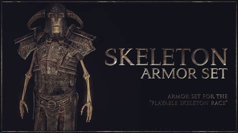 skyrim knight of skeleton armor mod pc xbox one skyrim special edition skeleton armor set