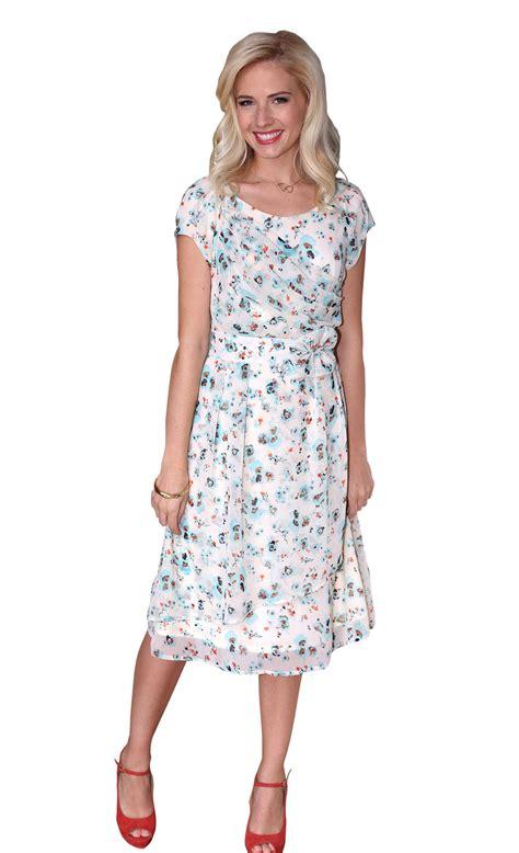 Nesa Shopp Dress modest dress in floral print