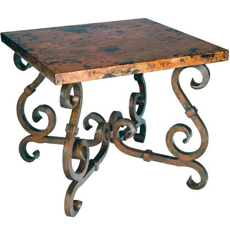 End Tables Designs : Rod Iron End Tables Rustic French Interior Design Varnished Furniture Sets