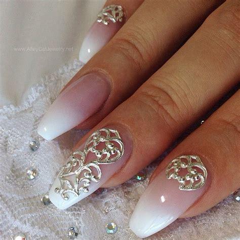 Glitzernde Nägel by Nail Accessories Nail Wedding Wedding Nails Veils