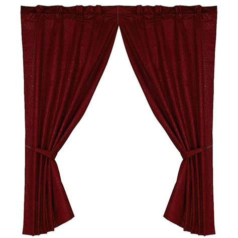 western drapes western spurs horshoes curtain rod and bracket set