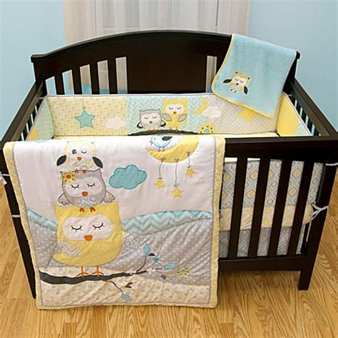 baby s first by nemcor naptime owls 5 piece crib bedding