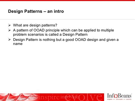 pattern types in ooad design patterns