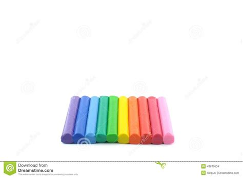 colorful clay colorful modeling clay plasticine stock photo image