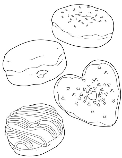 free donut with sprinkles coloring pages