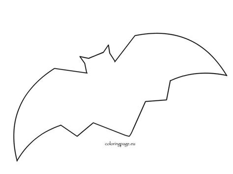 bat pattern for kindergarten bats and templates on pinterest