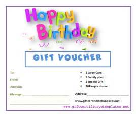 happy birthday gift certificate template best photos of birthday gift voucher template birthday