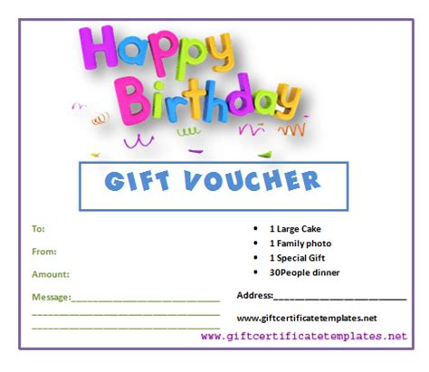 best photos of birthday certificate gift voucher template