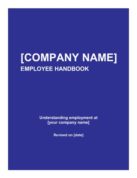employee handbook cover page template employee handbook template sle form biztree
