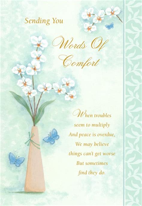 memorial words of comfort sympathy cards with soothing words birthdaywishesandmore