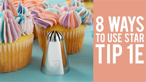 how to decorate cupcakes at home how to decorate cupcakes with tip 1e youtube