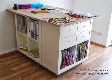 ikea hack craft room une table de couture sur mesure avec kallax bidouilles ikea