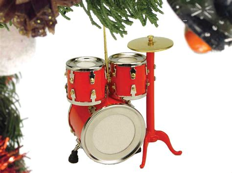 buy red drum set christmas ornament music gift