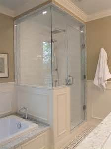 glass walls for shower half wall shower on small bathroom layout