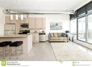 Kitchen Island Table Plans modern condo kitchen and living room stock photo image