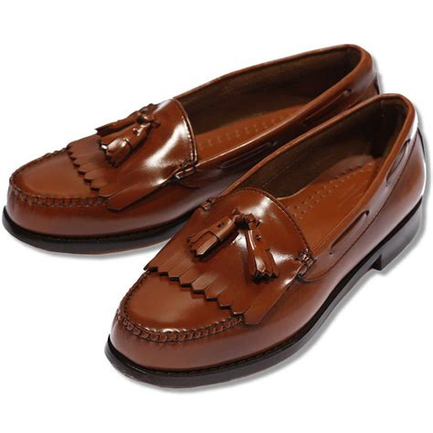 league loafers bass weejuns league all leather tassel fringe layton