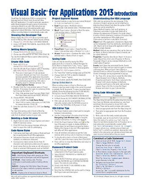this way to success a reference guide for students with disabilities transitioning from high school to college books visual basic for applications vba 2013 reference