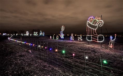 massive trail of lights in downsview park