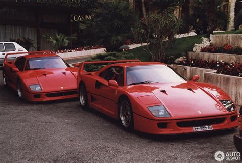 retro ferrari 1993 monaco supercar spotting photos showing two ferrari