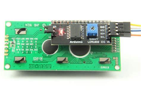Lcd 16x2 1602 Biru Dengan I2c Iic Backpack Arduino Avr Pic Serial I2c 1602 16 215 2 Character Lcd Module Geeetech Wiki