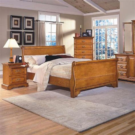 honey oak bedroom furniture honey creek bedroom set furniture