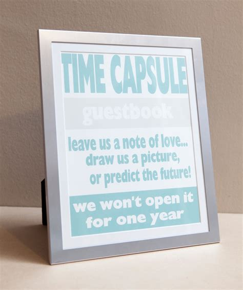 wedding time how to make a diy time capsule guest book