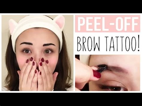 tattoo eyebrows etude peel off eyebrow tattoo etude house product review