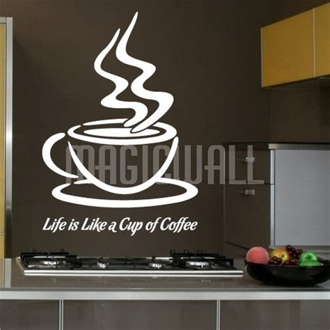 coffee wall stickers wall decals is like a cup of coffee wall lettering
