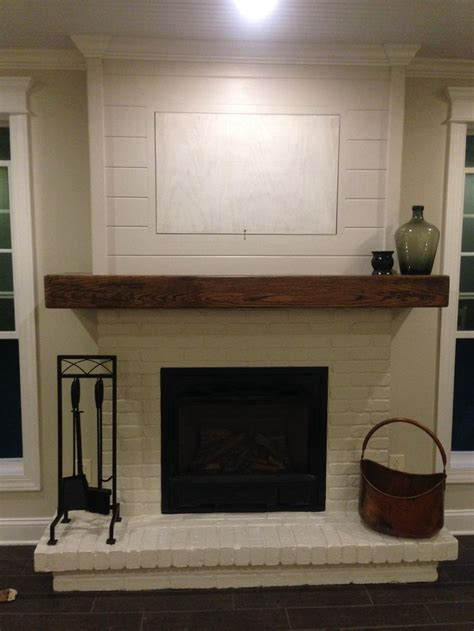 Brick Fireplace Mantle by 17 Best Ideas About Painted Fireplace Mantels On