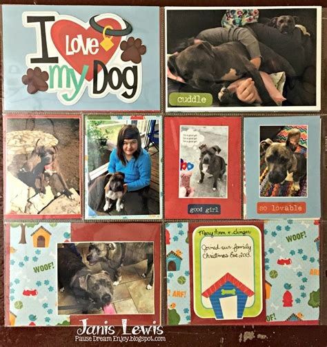 scrapbook layout ideas for pets pause dream enjoy pets scrapbook double layout