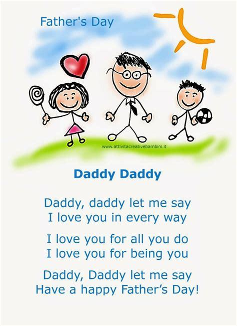 fathers day poems for papa attivit 224 creative per bambini filastrocca per la festa