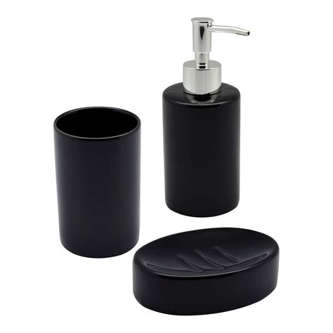 tumbler for bathroom black ceramic bathroom set including soap dispenser dish