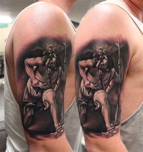saint christopher tattoo st christopher ideas st
