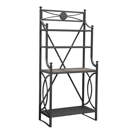 Bakers Rack Home Depot by Sunjoy Hansel 67 In X 17 In Steel Slate Baker S Rack L