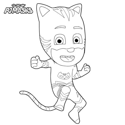 cat boy coloring page top 30 pj masks coloring pages