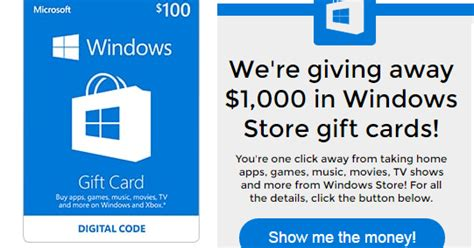 Windows Store Gift Card Code Decorating Coupons And Freebies Microsoft Windows Store Gift Card Giveaway 29 Winners Win 25 50 Or