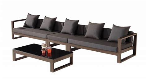 5 seater sectional sofa set with cushions by homestead living modern outdoor 5 seater sectional sofa set