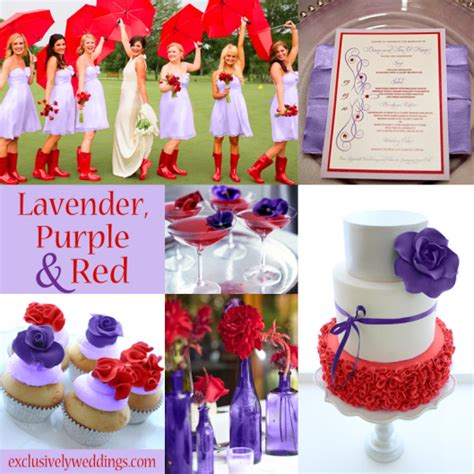 purple wedding color combination options exclusively weddings red wedding color seven vibrant combinations