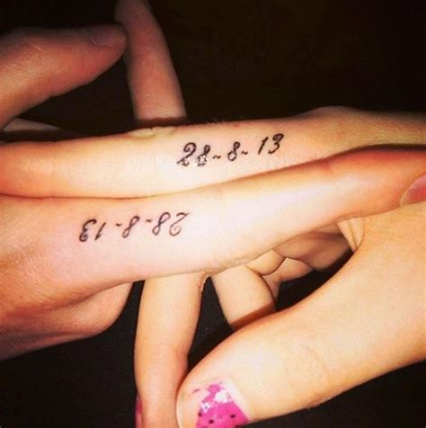 tattoo date designs matching friendship date designs on fingers