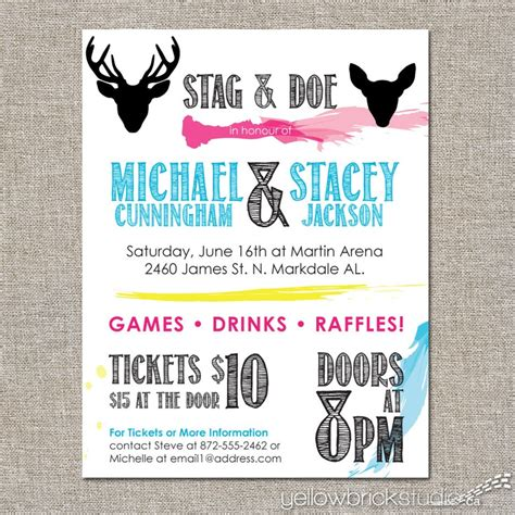 stag tickets template free stag and doe tickets painterly 250 sided