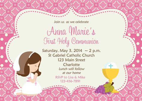 first holy communion invitation cards free first