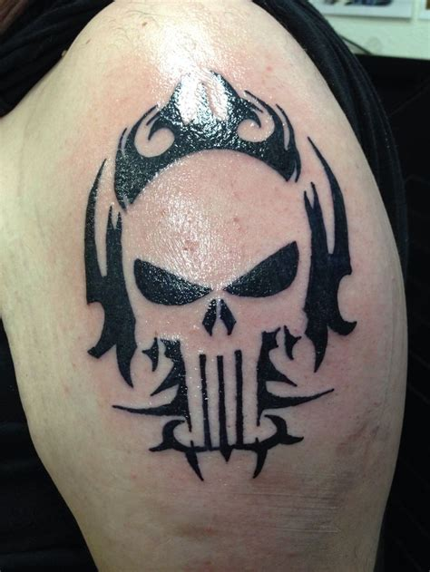 punisher tribal tattoo punisher tat ideas punisher
