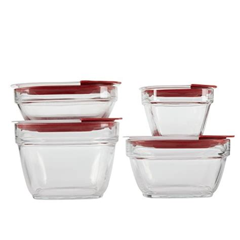food storage containers with lids rubbermaid easy find lids glass food storage container 8