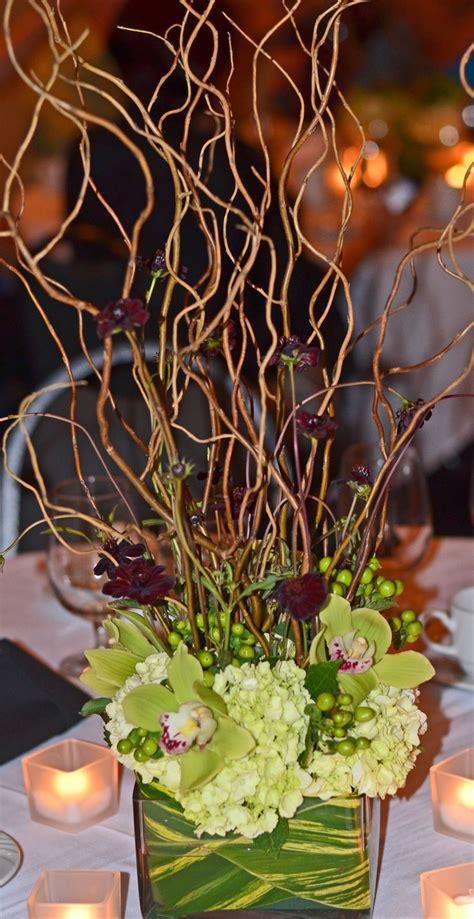 Eletragesi Cymbidium Orchid Centerpieces Images Green Centerpiece Green Hydrangea Hypericum Berries And