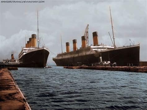 titanic on pinterest rms titanic decks and ships rms olympic and rms titanic a rare photo of the two ships