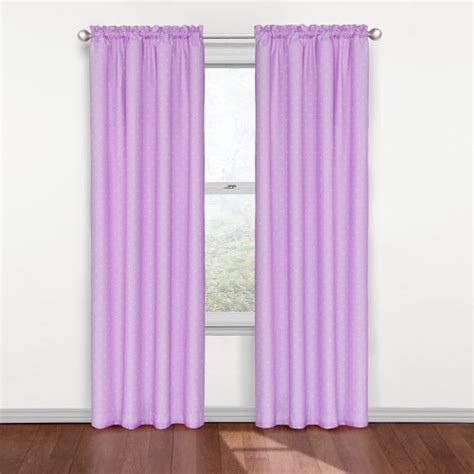 purple eclipse curtains eclipse kids polka dots blackout window curtain panel