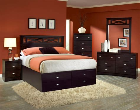 storage bedroom sets 5 pc set with storage bed bedroom sets