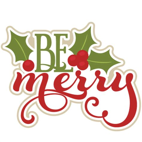 merry christmas titles be merry svg scrapbook title